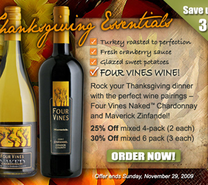 Cypher Winery Thanksgiving Offer